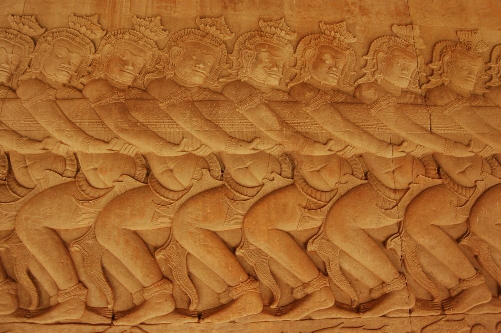 Churning of the Sea of Milk, Angkor Wat